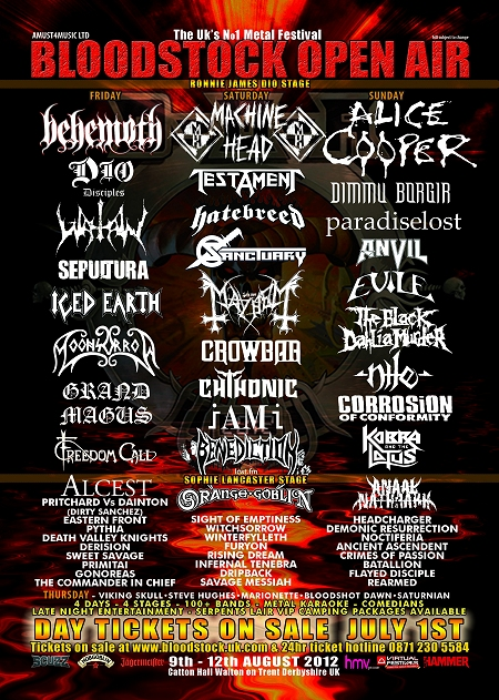 Bloodstock Fest 2012 flyer